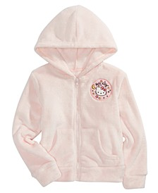 Little Girls Hello Moon Zip Woobie Hoodie