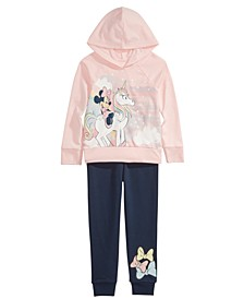 Little Girls 2-Pc. Unicorn Minnie Mouse Hoodie Shirt & Jogger Pants Set