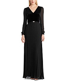 Velvet-Georgette Gown