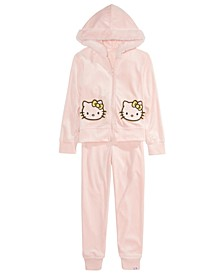 Little Girls 2-Pc. Glitter Hoodie Jacket & Jogger Pants Set