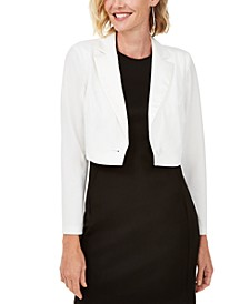 Notched-Lapel Bolero Jacket