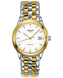 Longines Men's Swiss Automatic Flagship Two-Tone Stainless Steel Bracelet Watch 39mm