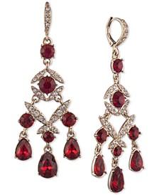 Pavé & Stone Chandelier Earrings