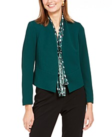 Open-Front Crepe Jacket
