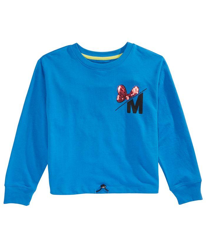 Disney - Big Girls Minnie Mouse Icon Drawcord Shirt
