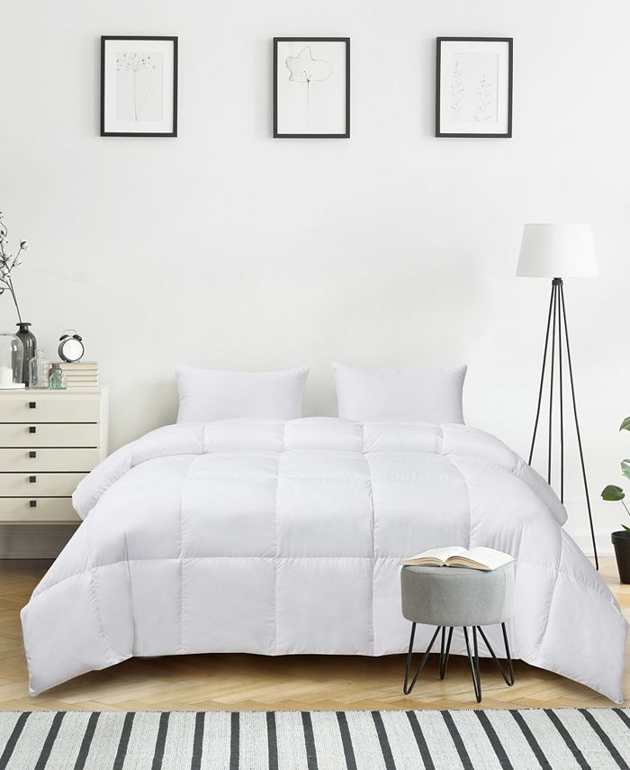 Kathy Ireland - Ultra-Soft Nano-Touch Light Warmth White Down Fiber Comforter Full/Queen