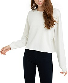 Juniors' Raw-Hem Sweatshirt