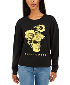 Juniors' Sunflower Graphic-Print T-Shirt