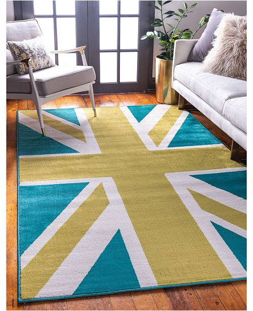 Jane Seymour Union Jane Jso005 Green 9' x 12' Area Rug