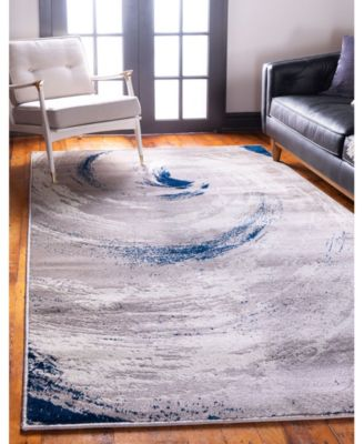 The Wave Jso003 Beige 9' x 12' Area Rug