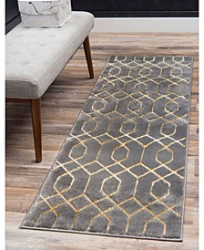 Glam Mmg001 Gray/Gold 2' x 10' Area Rug