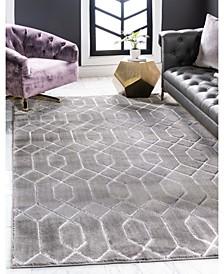Glam Mmg001 Gray/Silver 5' x 8' Area Rug
