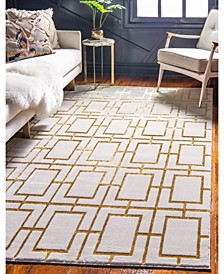 Glam Mmg002 White/Gold 4' x 6' Area Rug