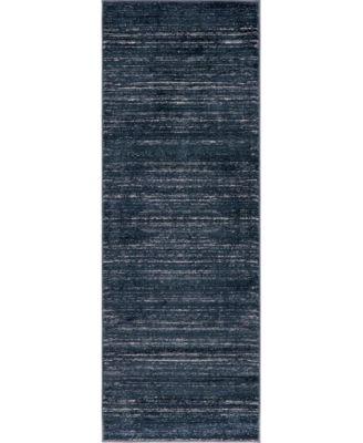 """Madison Avenue Uptown Jzu001 Navy Blue 2'2"""" x 6' Runner Rug"""