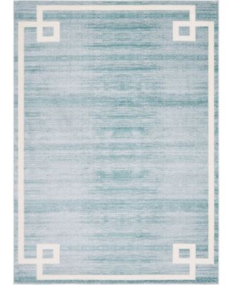 Lenox Hill Uptown Jzu005 Turquoise 9' x 12' Area Rug