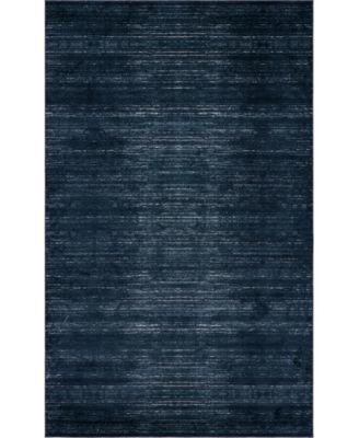 Madison Avenue Uptown Jzu001 Navy Blue 5' x 8' Area Rug