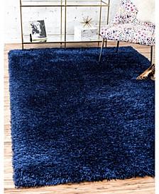Shag Mms001 Blue Jeane 4' x 6' Area Rug