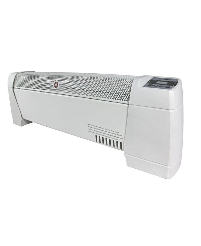"Optimus H-3603 30"" Baseboard Convection Heater with Digital Display and Thermostat"