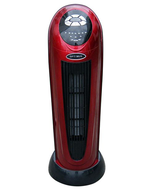 """Optimus H-7328 Portable 22"""" Oscillating Tower Heater with Digital Temperature Readout and Remote Control"""