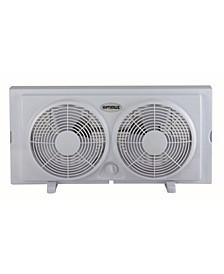 """F-5280 7"""" Twin 2-Speed Window Fan"""
