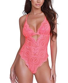 Women's Lingerie Stretch Lace Teddy with Unlined Bra