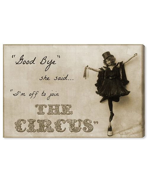"""Oliver Gal Join The Circus Canvas Art, 24"""" x 16"""""""