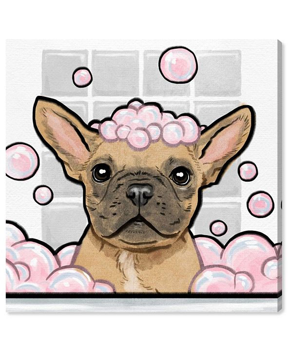 """Oliver Gal Bubbly Personality Square Canvas Art, 43"""" x 43"""""""
