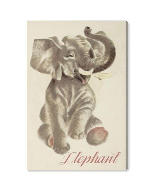 "Oliver Gal Elephant Canvas Art, 30"" x 45"""