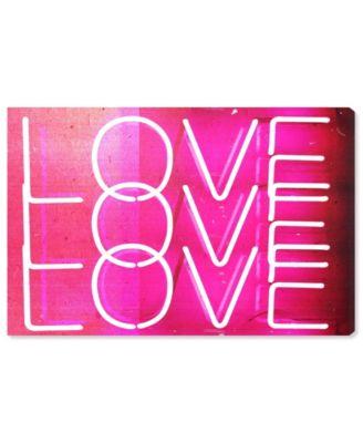 Love Neon Lights Canvas Art, 24