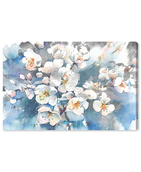 """Oliver Gal Spring Blossom in Blue Canvas Art, 45"""" x 30"""""""