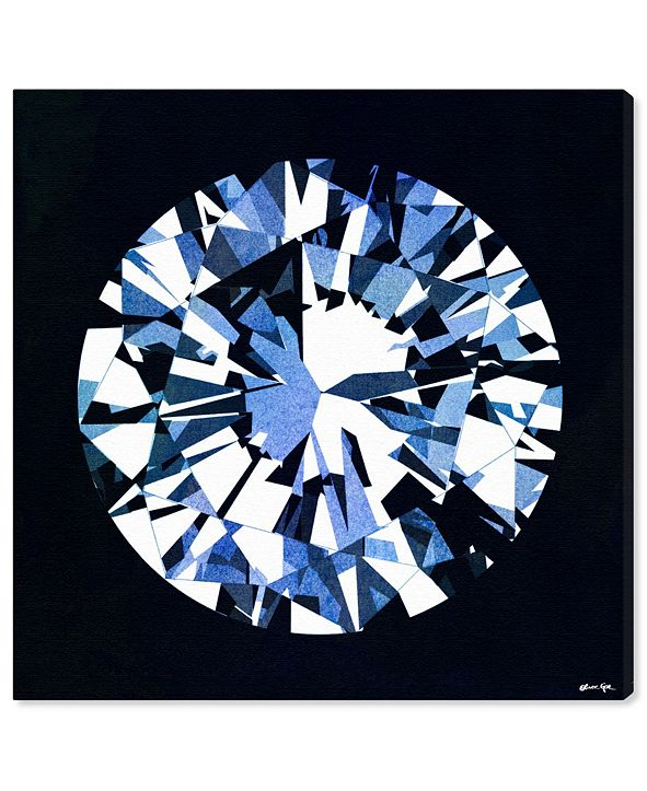 """Oliver Gal Diamonds Are Forever Canvas Art, 16"""" x 16"""""""
