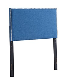 Amanda Upholstered Squared Headboard, Twin