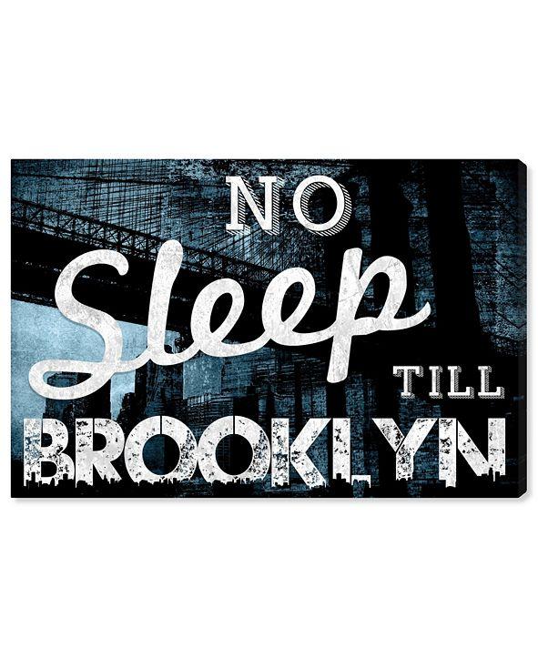 "Oliver Gal No Sleep Till Brooklyn Canvas Art, 24"" x 16"""