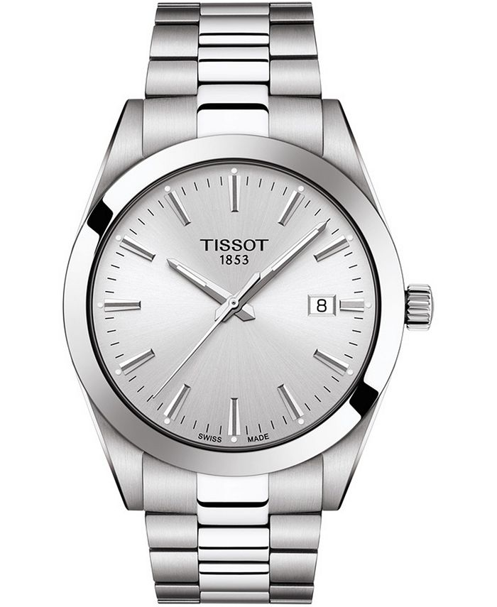 Tissot - Men's Swiss T-Classic Gentleman Stainless Steel Bracelet Watch 40mm