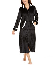 Fleece Long Zipper Robe