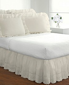 Fresh Ideas Ruffled Eyelet Twin Bed Skirt