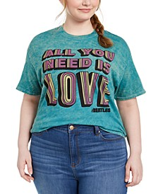 Trendy Plus Size The Beatles Cotton Graphic T-Shirt