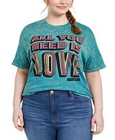 Trendy Plus Size The Beatles Cotton Graphic T-Shirt