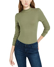 Juniors' Mock-Neck Bodysuit