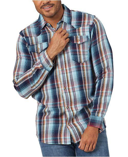 Wrangler Men's Western Style Plaid Shirt