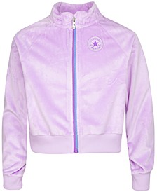 Big Girls Velour Zip-Up Jacket