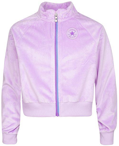 Converse Big Girls Velour Zip-Up Jacket
