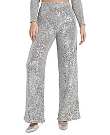 Riza Sequin Wide Leg Pants