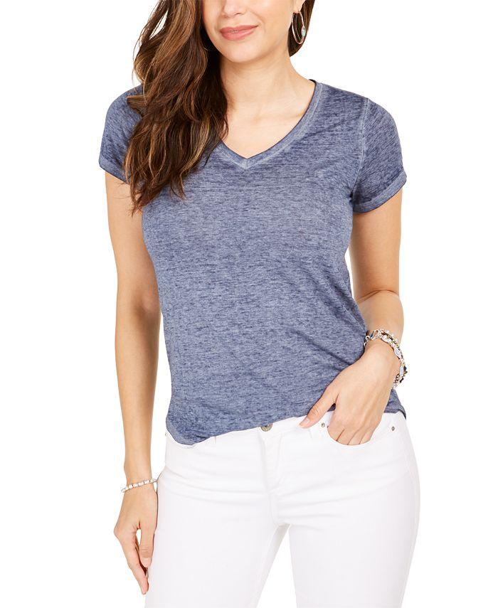 Style & Co - Burnout V-Neck T-Shirt