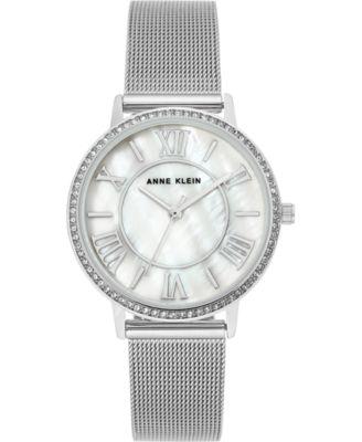 Women's Stainless Steel Mesh Bracelet Watch 34mm