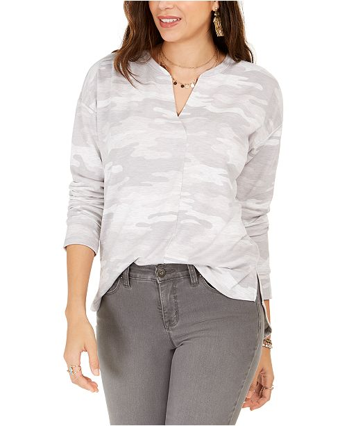 Style & Co Camo Top, Created for Macy's