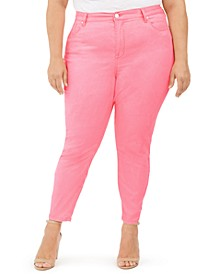 Trendy Plus Size High-Rise Skinny Jeans