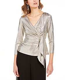 Metallic Wrap Top