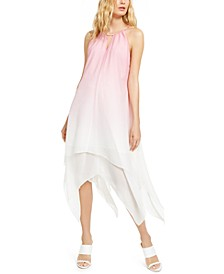 INC Tie-Dye Keyhole Halter Dress, Created For Macy's