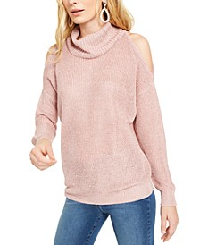 INC Sequin Cutout Turtleneck Sweater, Created For Macy's